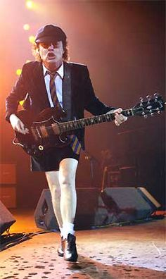 Best band ever: AC/DC, featuring the inimitable Angus Young.