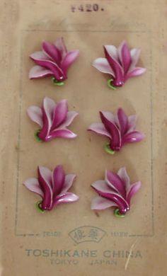 Vintage Purple Flower Buttons
