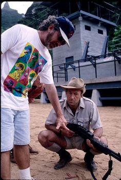 On set of Jurassic Park