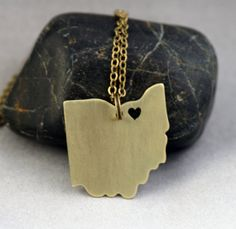 I Love Cleveland Ohio Necklace by MiscellaneabyValerie on Etsy, $35.00