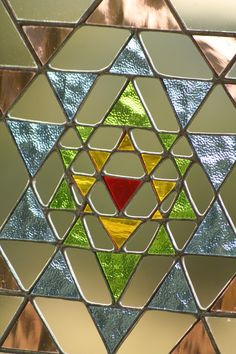 Sri Yantra Meditation  suncatcher  stained glass door Mownart