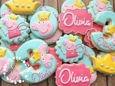 "82 Likes, 2 Comments - Casey CaseBakes LLC (@case_bakes) on Instagram: ""Peppa Pig Fairy#casebakes #clearlaketx #clearlakecity #clearlakecookies #leaguecity #friendswood…"""