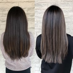 Black Coffee Hair With Ombre Highlights - 10 Cool Ideas of Coffee Brown Hair Color - The Trending Hairstyle Ash Brown Hair With Highlights, Dark Ash Brown Hair, Ash Brown Balayage, Coffee Brown Hair, Brown Hair Shades, Brown Hair Colors, Balayage Hair, Natural Hair Color Brown, Balayage Straight