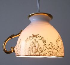 DIY Teacup Pendant Light