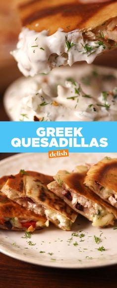 Greek Quesadillas  - Delish.com