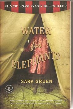 Water for Elephants, Sara Gruen. I really enjoyed learning about the circus in this book. I will definitely read this book again soon. I haven't watched the movie yet, it is coming out on dvd November 1.