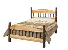 Country Hickory Panel Bed  #swissvalleyfurniture #hardwoodfurniture #furniture #shopsmall #homedecor #interiordesign #interior #interiors #home #homesweethome #interiorinspiration #inspire #amishcountryinteriors #design
