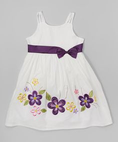 Look at this Purple & Yellow Flower Dress - Toddler & Girls on #zulily today!