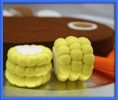 Juego comida mazorca de maíz Waldorf inspirado por EvaLauryn