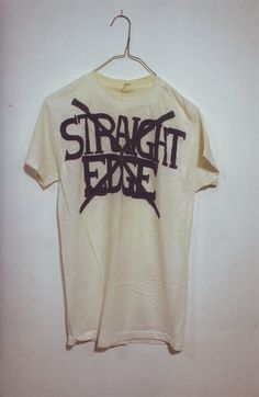 Hand drawn Straight Edge T-Shirt, 1982 Painted Leather Jacket, Hardcore Music, Ford News, Alternative Fashion, Shirts For Girls, Work Wear, Restoration, My Style, Tees