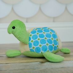 This little guy was made from the taffy the turtle stuffed animal pattern by McKay Manor Musers. He's both perfectly plush and floppy all at the same time. With that sweet little hooked nose and puffy shell, what's not to love?