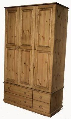 Beautiful pine wardrobe from: http://woodenwardrobe.co.uk/