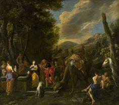 """Domenico Gargiulo kaldet Micco Spadero (1609/10-75), """"Rebekka og Eliezer ved brønden"""".  Statens Museum for Kunst / National Gallery of Denmark. http://www.smk.dk/index.php?id=1152"""