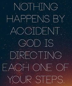 God is in control Amen.  Opening doors every step of the way!!  Guiding our way for better!!