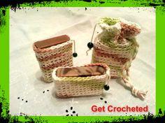 Bar Soap holders - Get Crocheted Soap Bath Set  $22.00 per set Or $7.50 ea.
