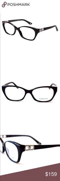 8ac809ab23e9d Versace Women s Eyeglasses Black Optical Frame Versace Women s Eyeglasses  Optical Frame Black 54mm-16mm-