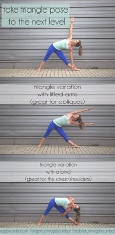 Trikonasana variations, and what to do when you've hit a plateau in your practice #yoga