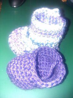 laarsje en schoentje paars