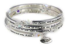 4030561 The Lord's Prayer Christian Stretch Bracelet Jesus Religious Christ B... - http://www.jewelryfashionlife.com/4030561-the-lords-prayer-christian-stretch-bracelet-jesus-religious-christ-b/