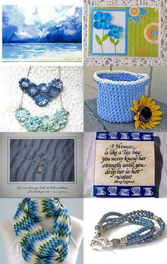 """--Pinned with TreasuryPin.com    Very pretty treasury by Donna of """"Donna Designed."""""""