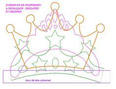 Gabarit couronne : Prince, Princesse pour épiphanie et carnaval. A télécharger et imprimer, gratuit.