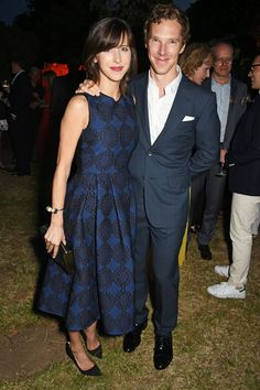 Pin for Later: London's Most Stylish Celebs Hit the Serpentine Summer Party Sophie Hunter and Benedict Cumberbatch