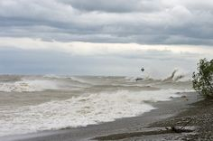 Lake Erie, West of the outside of the Barcelona Harbor break wall, May 8, 2010 in Barcelona, Westfield, NY, US, photographer- Michael Head