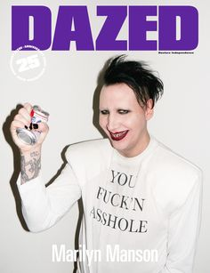 MARILYN MANSON. DAZED ANNIVERSARY ISSUE. Photography Terry Richardson. Fashion Nicola Formichetti. Interview Natasha Stagg. #DAZED25
