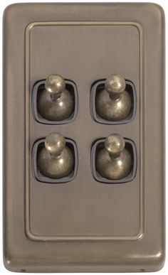 4 Gang Toggle Light Switch - Brown Switch
