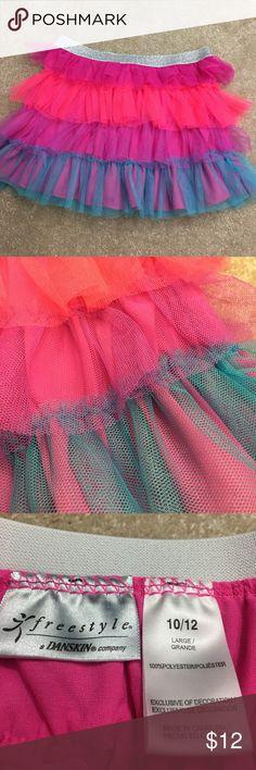 Freestyle Danskin Skirt Colorful Freestyle Danskin Skirt.  Great cover up for dance class.  Size 10/12. Danskin Bottoms Skirts