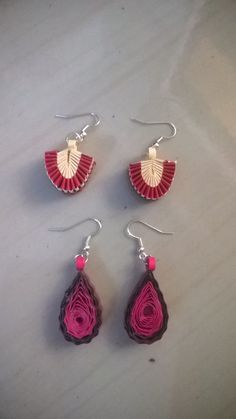 A new, unique styles of quilling earrings... :)