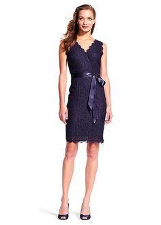 Buy discount Graceful Lace V-neck Neckline Short Sheath Mother Of The Bride Dresses With Belt at Dressilyme.com