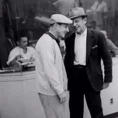 Gene and Fred. Candid. #GeneKelly #FredAstaire