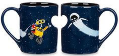 A set of Wall-E and Eve heart mugs for you and your sweetheart.   46 Magical Stocking Stuffers Every Disney Fan Will Love