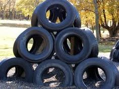 a tire fort!