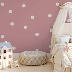 Girl Room / Nursery Wall Decals - Watercolour Bubbles - Medium | Beautiful on trend wall decals available for boys and girls nurseries and bedrooms. #nursery #girlroomdecor  #nurserydecor  #kidsbedroomdecor  #girlnursery #girlsroom