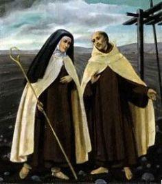 Teresa of Jesus (Avila) and St. John of the Cross. Reformers of the Carmelites Order Catholic Priest, Catholic Art, Catholic Saints, Roman Catholic, Saint Teresa Of Avila, Saints And Sinners, Les Religions, Religious Images, Mystique