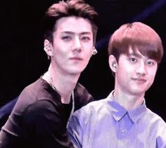 Kyungsoo paralyzed as Sehun proudly shows off his new toy.