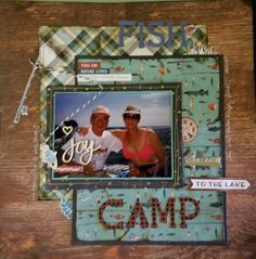 Camp Happy Bear by Photo Play.  Layout design by Jennifer Gatewood for Scrappin' in the City. Scrapbook Layouts, Scrapbooking, Layout Design, Camping, Bear, Baseball Cards, City, Happy, Campsite