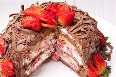 chocolate com morango bolo - Pesquisa Google