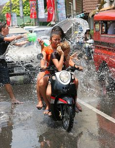 Songkran Water Festival – New Year Celebration in Thailand Thailand Vacation, Phuket Thailand, Thailand Travel, Songkran Thailand, Laos, Songkran Festival, Water Fight, Wanderlust, Festivals Around The World