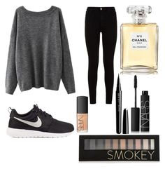 """""""Untitled #10"""" by kartseva-ana on Polyvore featuring 7 For All Mankind, NIKE, Chanel, Forever 21, Marc Jacobs and NARS Cosmetics"""