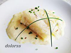 Bacalao confitado con salsa de azafrán Blog de cuina de la Dolors: Microondas