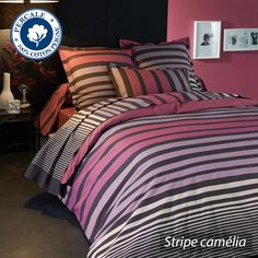 Parure de lit percale Stripe Camelia
