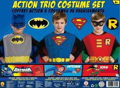 AmazonSmile: DC Comics Boys Action Trio Superhero Costume Set: Amazon Warehouse Deals
