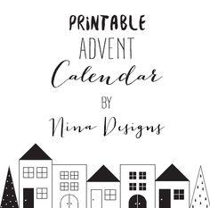 Este año quería hacer un calendario de adviento 100% handmade. Y a ser posible, sin salir de casa.  Este imprimible  para montar un poblado...