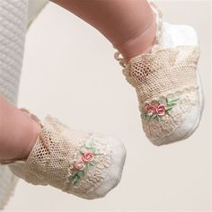 Baby Girl Booties - Clementine Christening & Baptism Collection