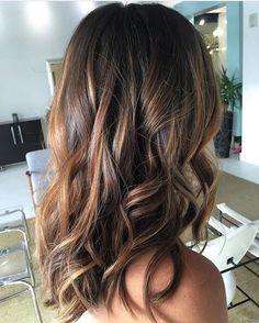 Golden Brunette. Color by @tiffanicooperhair  #hair #hairenvy #hairstyles…