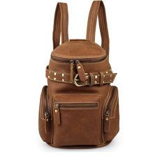 Stylish Cow Leather Belt Accent Book Bag #Serbags