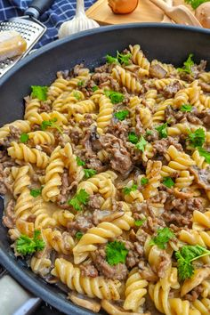 Cauliflower Dishes, One Pot Pasta, Ground Beef Recipes, Healthy Dinner Recipes, Food Inspiration, Main Dishes, One Pot Dishes, Food Porn, Food And Drink